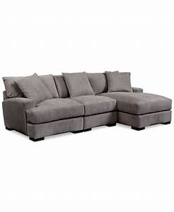 rhyder 3 piece sectional with chaise furniture macy39s With macy s sectional sofa with chaise