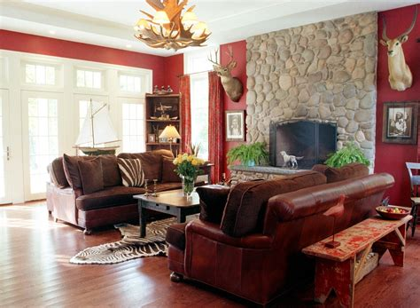 home design red cream brown and living room ideas