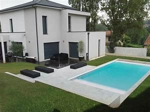 ordinaire amenagement exterieur maison terrain en pente 8 With piscine et amenagement exterieur