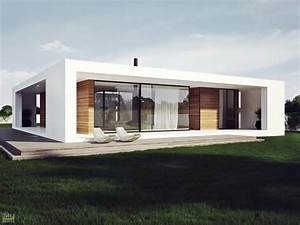 Modern Plan Of Single Storey House In Stylish Design With