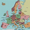 labeled map of Europe   Map quiz, European flags ...