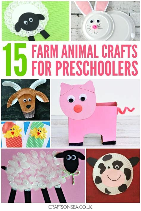 15 farm animal crafts for preschoolers must do crafts 962 | 87ad1c98dcc2be8375b7eaa8aa47e6ad