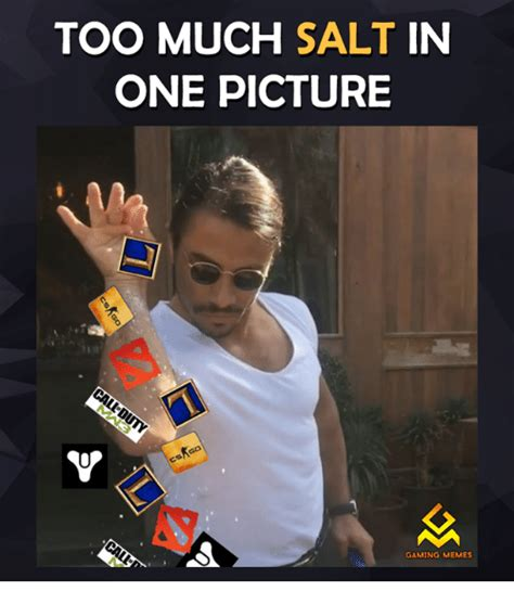 Salt Memes - too much salt in one picture gaming memes video games meme on sizzle