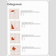 Enlargement Worksheet (negative Scale Factors) By Holyheadschool  Teaching Resources Tes