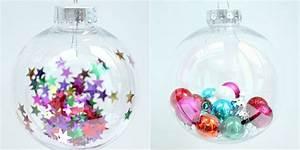 Boule Noel Transparente : bricolage boule de noel plastique klicit ~ Melissatoandfro.com Idées de Décoration