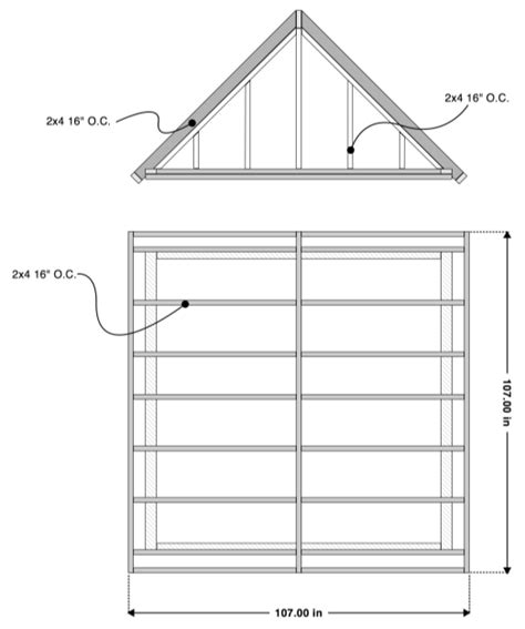 gable roof plans firewood shed plans gable roof framing the shed build