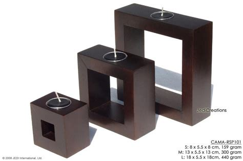 rectangle candle holder mango wood candle holders in unique shapes