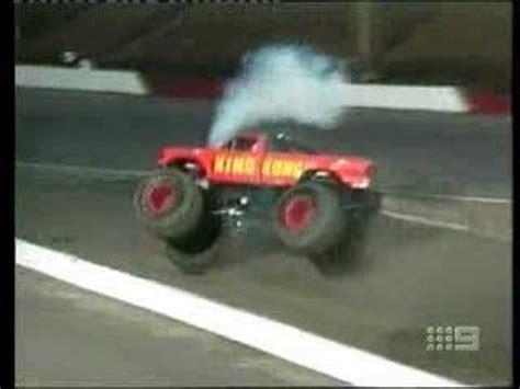 monster truck videos crashes monster truck crash ends in a fireball youtube