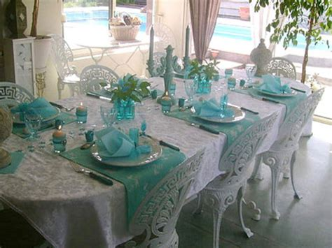 valentine centerpieces white and turquoise party