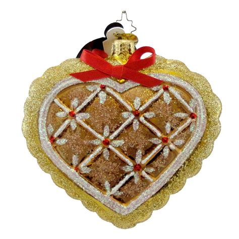 christopher radko gingerbread ornaments christmas