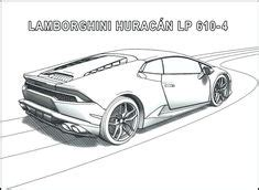 Lambogini Free Colouring Pages