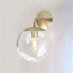 mid century modern wall sconce light 8 clear glass globe With modern wall sconce