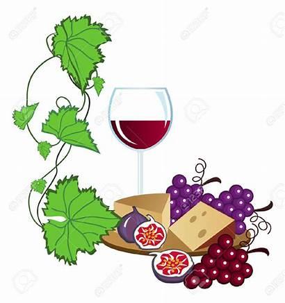 Wine Clipart Grapes Tasting Vineyard Clip Vector