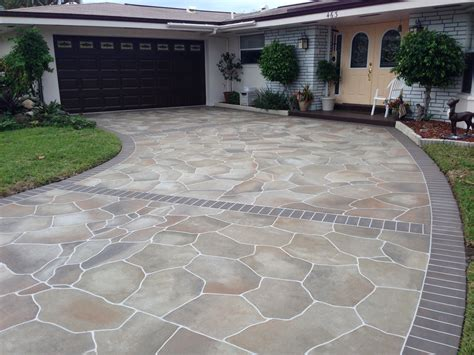 driveway decoration ideas concrete designs florida driveway decorating ideas