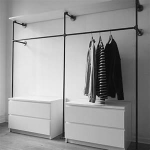 Offener Schrank Vorhang : shop kleiderst nder garderoben einrichtung aus stahlrohr schlafzimmer pinterest ~ Markanthonyermac.com Haus und Dekorationen
