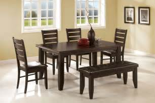 dining room set with bench home design ideas - Dining Room Set With Bench