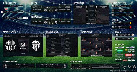 pes 2018 la liga scoreboard v4 by txak soccerfandom