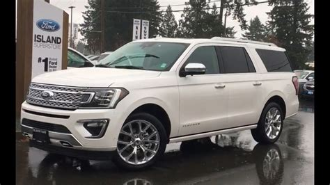 white  ford expedition max platinum trailer tow review