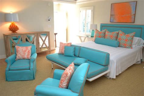 Turquoise And Orange Bedroom by Williams Design Turquoise Orange Bedroom