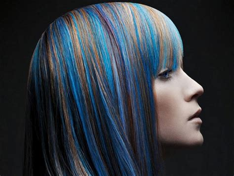 multi color hair styles multi colored hair color ideas medium hair styles ideas