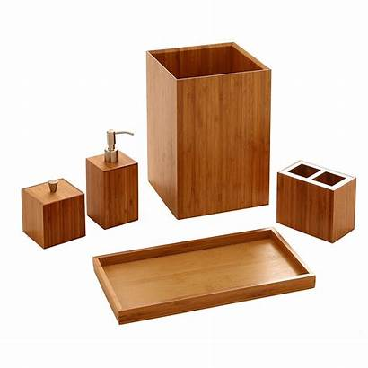 Bathroom Bamboo Vanity Bath Accessory Luxury Essentials