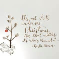 charlie brown christmas its not whats under the tree quote brown quotes and on