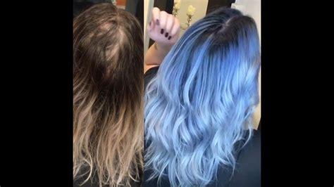 Hair Blue by Pastel Blue Hair Tutorial