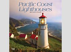 Pacific Coast Lighthouses 2019 12 x 12 Inch Monthly Square