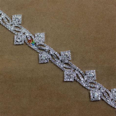 1 yard bling rhinestone cup chain silver diy browbands