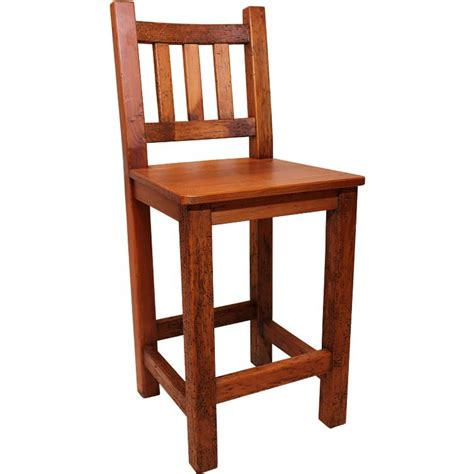 Rustic Furniture  Southwestern Rustic Tall Campo Bar Stool