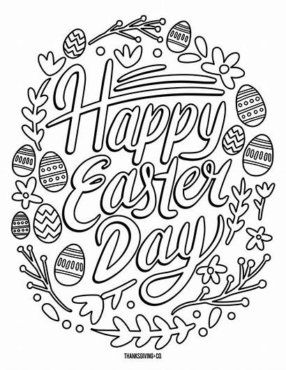 Easter Coloring Pages Printable Adults Adult Happy