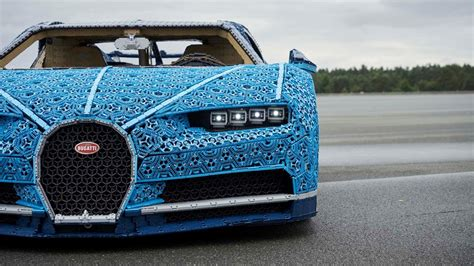 Mimicking the shape of the chiron, the exterior of the lego 1:1 model is made up of interconnected triangular segments that make up an outer skin structure. PHOTOS: LEGO made a real car out of LEGOs   kgw.com