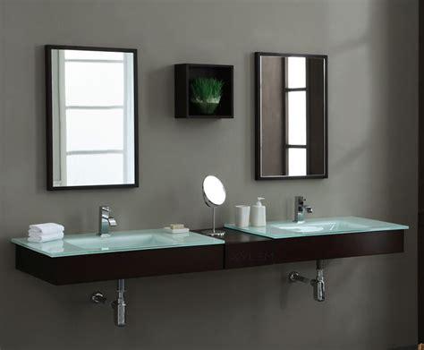rustic medicine modern blox 86 inch floating bathroom vanity set solid