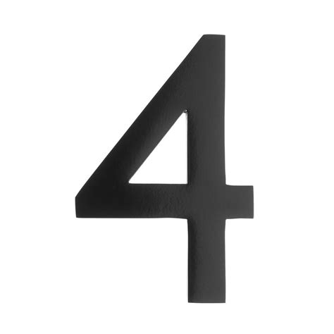 Architectural Mailboxes 4 In Black Floating House Number