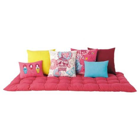 la redoute housse canapé matelas futon coussin de sol capitonné detente et couchage pour chambre enfant ou ado grand