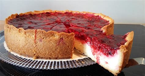 Pudding-schmand-kuchen Mit Himbeertopping Von Berna03. Ein Thermomix ® Rezept Aus Der Kategorie