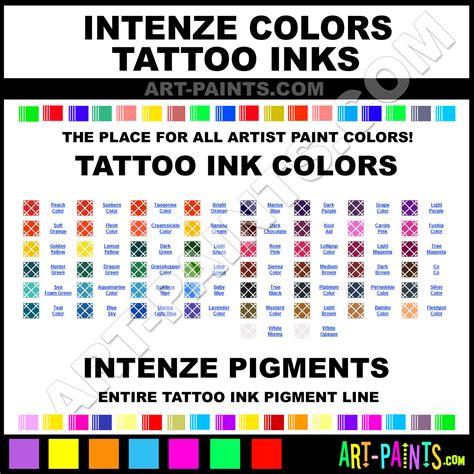 intenze colors tattoo ink pigment paint colors intenze