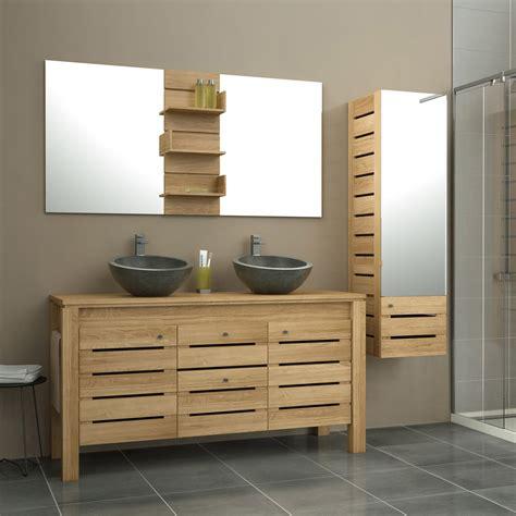 meuble de salle de bains plus de 120 brun marron moorea leroy merlin