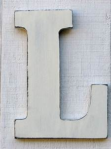 baby nursery initial rustic wooden letter l distressed in With wooden letter i