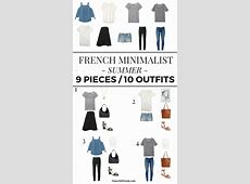 9 Pieces 10 Outfits French Minimalist Summer Classy
