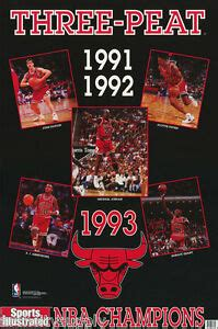 small poster nba basketball chicago bulls  peat