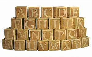 solid maple laser engraved wooden alphabet block by With custom block letters