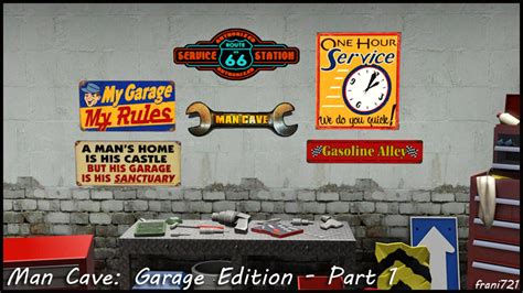 ➡ wall paintings are an edition / conversion of this set here. My Sims 3 Blog: Man Cave: Garage Edition Wall Art by fjl721