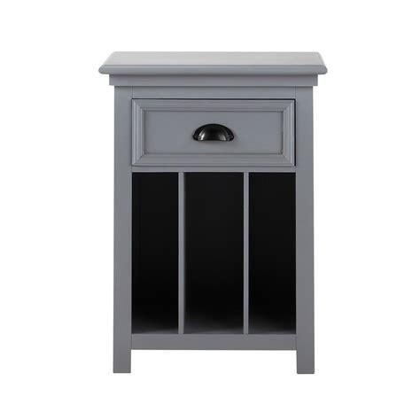 table de chevet avec tiroir en bois grise l 45 cm newport