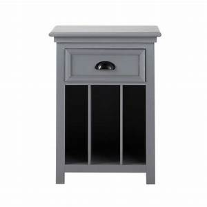 Table Chevet Grise : table de chevet avec tiroir en bois grise l 45 cm newport maisons du monde ~ Teatrodelosmanantiales.com Idées de Décoration