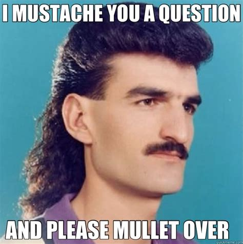 Funny Mustache Memes - 30 very funny mullet meme photos and images of all the time