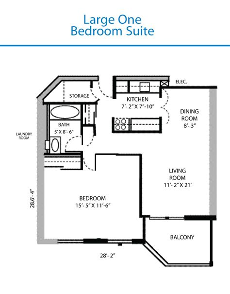 One Bedroom Floor Plans (photos And Video