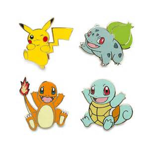 pikachu bulbasaur charmander le pokémon pins 4 pack 710
