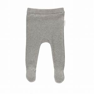 Mini Chatterbox Online Store  Pure baby Knitted Legging with Feet Grey Melange