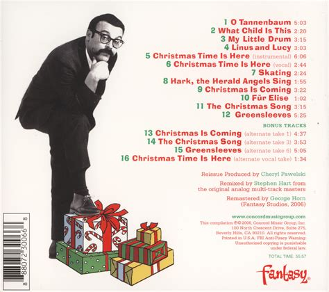 vince guaraldi trio cd my favorite christmas album quot a charlie brown christmas